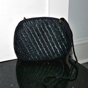 33 EAST Vintage Woven Style Crossbody Dome Bag